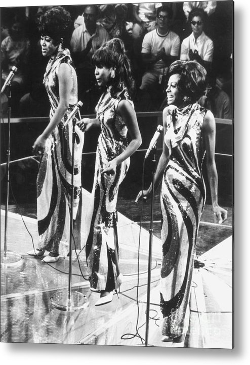 1963 Metal Print featuring the photograph The Supremes, C1963 by Granger