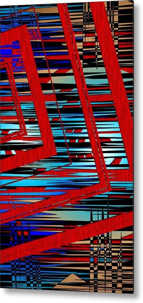 Line Metal Print featuring the digital art Lines And Design by Mario Perez