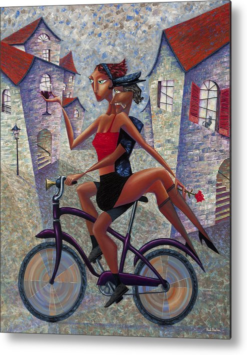 Bike Life Metal Print by Ned Shuchter