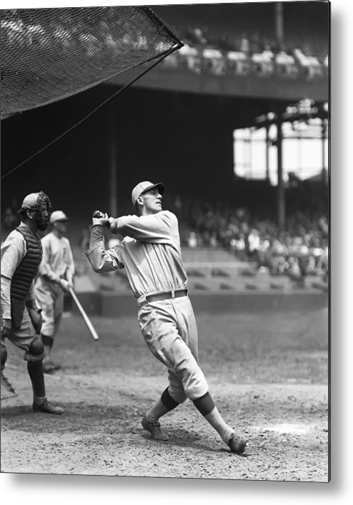 Baseball Metal Print featuring the photograph Russell G. Russ Wrightstone by Retro Images Archive