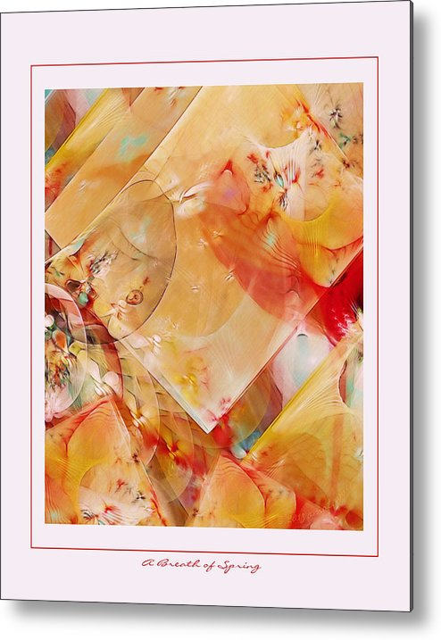 Fractal Metal Print featuring the digital art A Breath Of Spring by Gayle Odsather