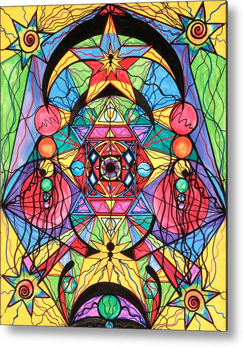 Arcturian Ascension Grid Metal Print featuring the painting Arcturian Ascension Grid by Teal Eye Print Store