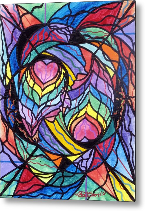 Authentic Relationship Metal Print featuring the painting Authentic Relationship by Teal Eye Print Store