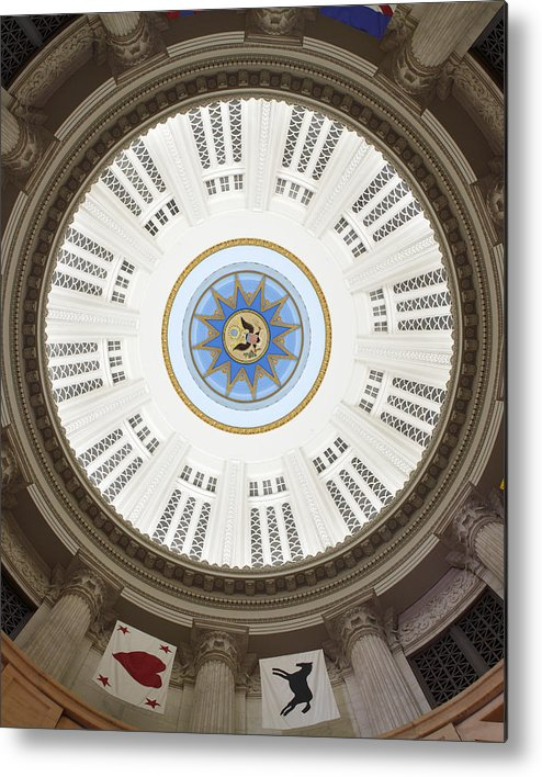 Custom House Tower Metal Print featuring the photograph Custom House Tower Ceiling Boston by Norman Pogson