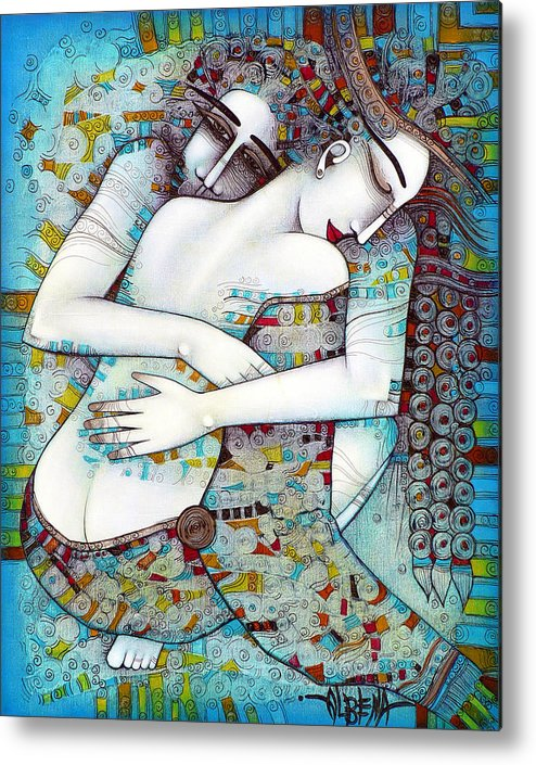 Love Metal Print featuring the painting Do Not Leave Me by Albena Vatcheva
