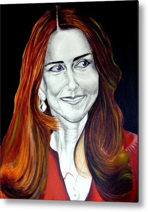 Duchess Metal Print featuring the painting Duchess Of Cambridge by Prasenjit Dhar