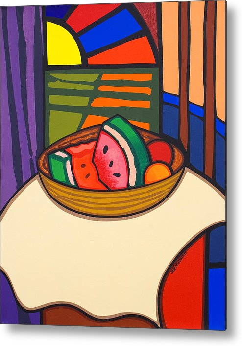 Fruit Metal Print featuring the painting From Matisse Exquisitely Impeccable by Jose Miguel Perez Hernandez