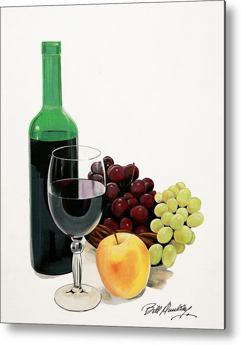 Still Life Painting Metal Print featuring the painting Glass Half Full by Bill Dunkley