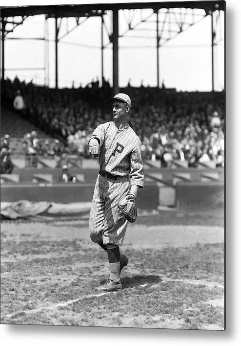 Baseball Metal Print featuring the photograph James Jimmie Wilson by Retro Images Archive