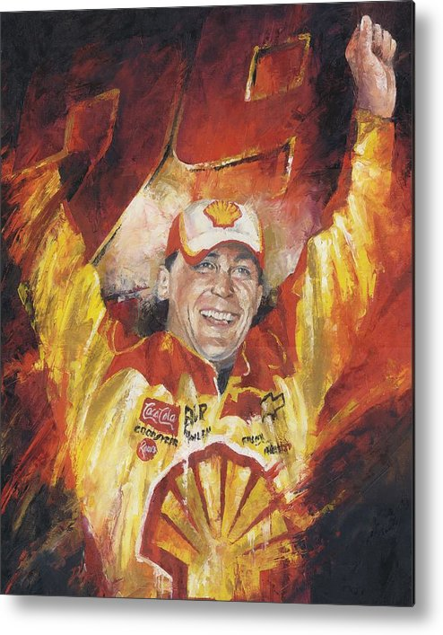 Nascar Metal Print featuring the painting Kevin Harvick by Christiaan Bekker