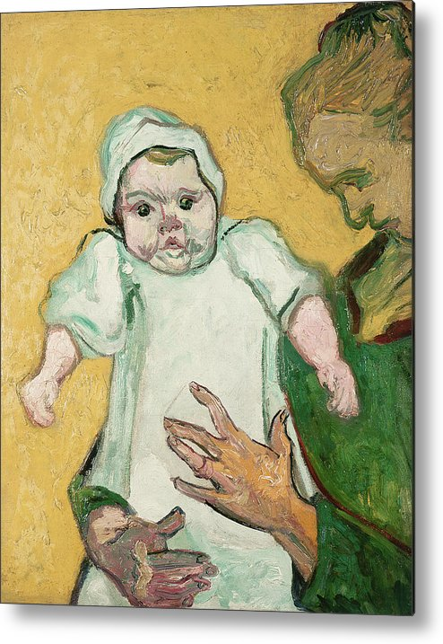 Child Metal Print featuring the painting Madame Roulin And Her Baby by Vincent Van Gogh