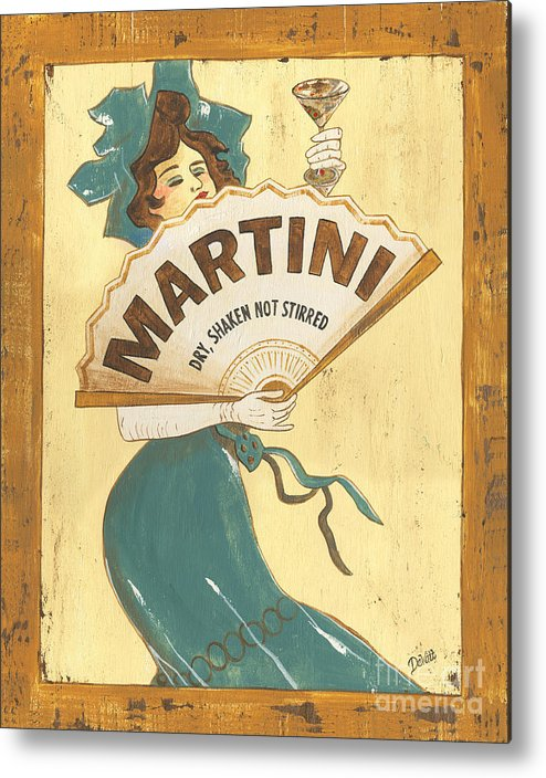 Martini Metal Print featuring the painting Martini Dry by Debbie DeWitt
