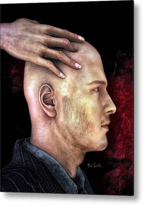 Social Metal Print featuring the digital art Mind Control by Bob Orsillo
