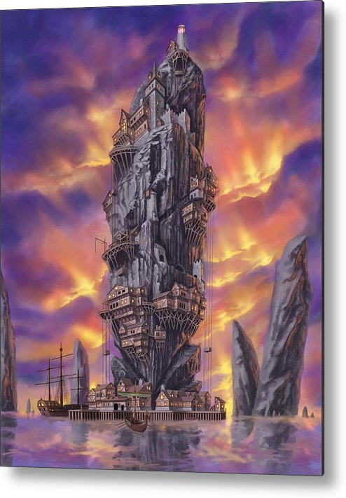 Fantasy Metal Print featuring the digital art Rogue Haven by Bryan Syme