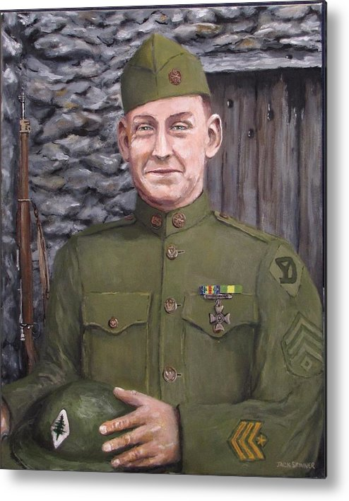 Sgt Sam Avery Metal Print featuring the painting Sgt Sam Avery by Jack Skinner