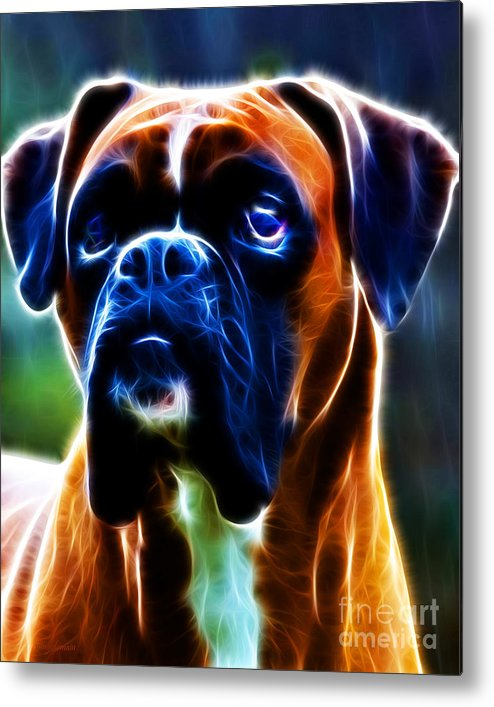 Animal Metal Print featuring the photograph The Boxer - Electric by Wingsdomain Art and Photography