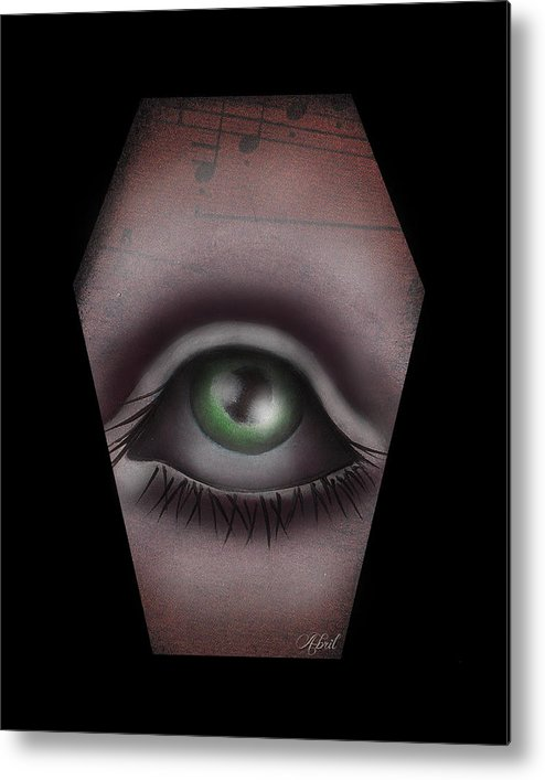 Eye Metal Print featuring the painting The Window IIi by Abril Andrade Griffith