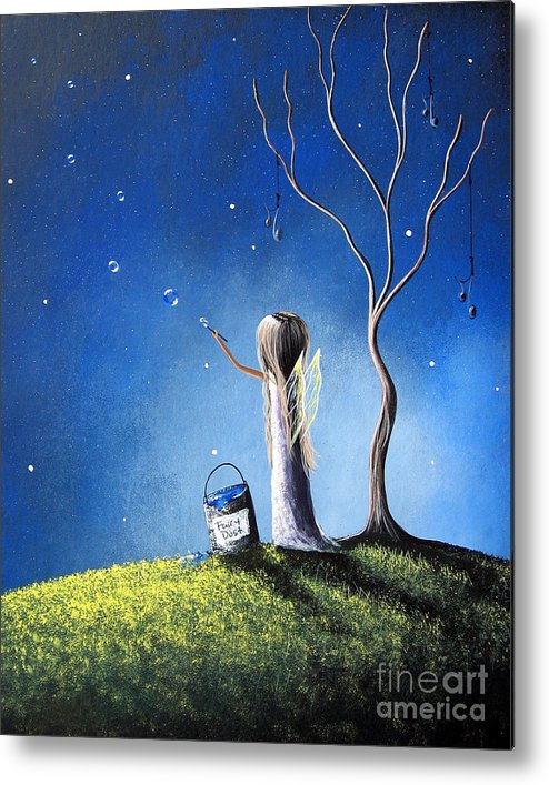 Fairies Metal Print featuring the painting Your Wish Comes True Tonight By Shawna Erback by Shawna Erback