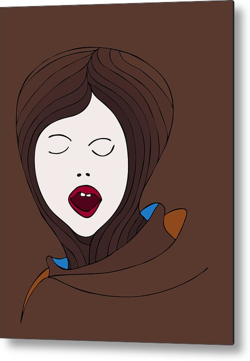 Fashion Metal Print featuring the painting A Woman by Frank Tschakert