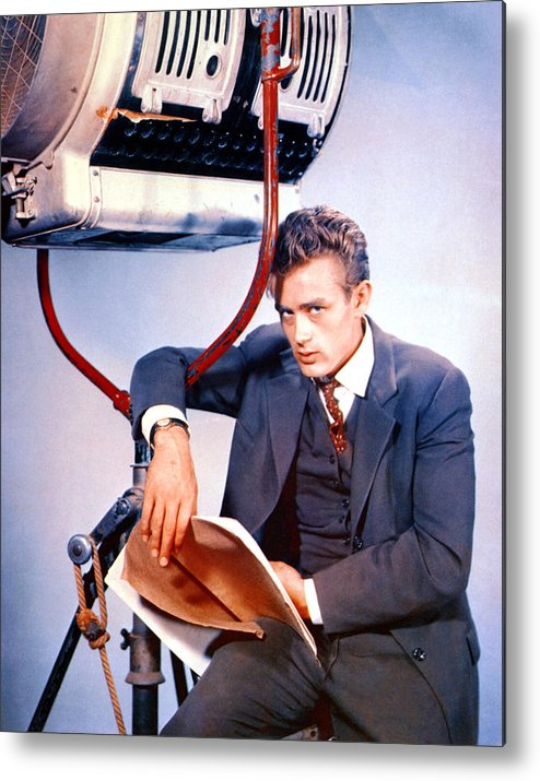 1950s Portraits Metal Print featuring the photograph East Of Eden, James Dean, 1955 by Everett