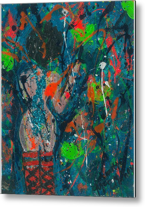 Women Metal Print featuring the painting My Teal Tart by Annette McElhiney