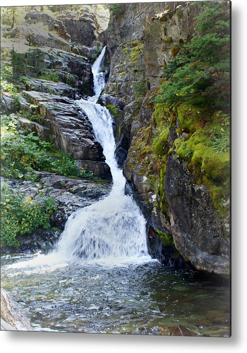 Glacier National Park Metal Print featuring the photograph Tricky Falls by Marty Koch
