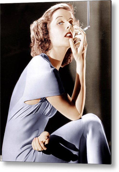 1930s Portraits Metal Print featuring the photograph Katharine Hepburn, Ca. 1930s by Everett