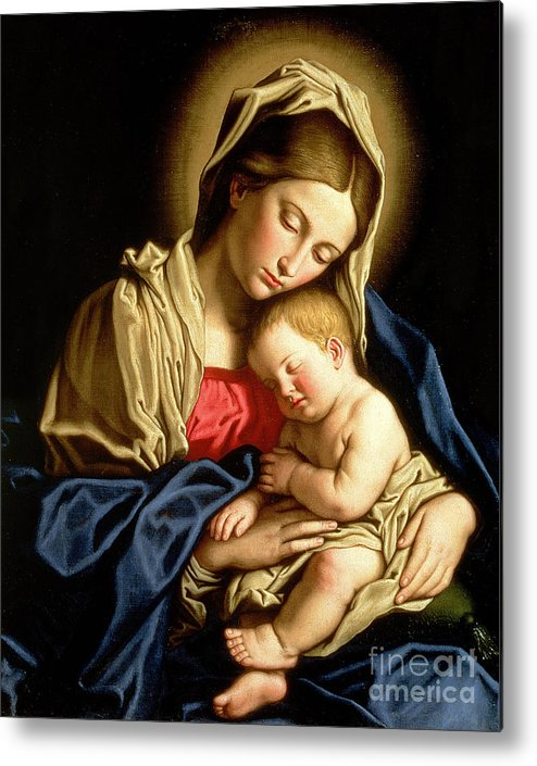 Mary Metal Print featuring the painting Madonna And Child by Il Sassoferrato