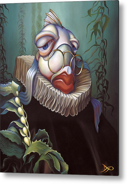 Court Metal Print featuring the painting Marquis De Sole by Patrick Anthony Pierson