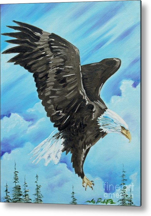 Bald Eagle Metal Print featuring the painting American Flight by Joseph Palotas