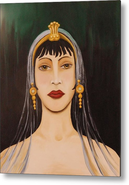 Tiara Metal Print featuring the painting Cleo by Leah Saulnier The Painting Maniac
