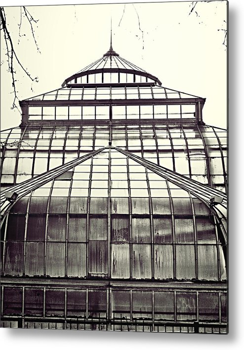 Conservatory Metal Print featuring the photograph Detroit Belle Isle Conservatory by Alanna Pfeffer