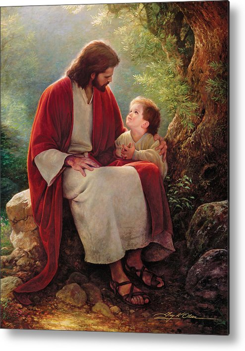 Jesus Metal Print featuring the painting In His Light by Greg Olsen