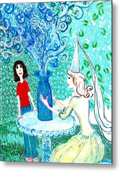 Sue Burgess Metal Print featuring the painting In The White Lady's Cave by Sushila Burgess