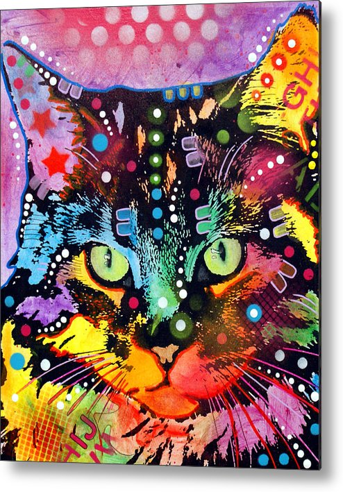Dean Russo Metal Print featuring the painting Maine Coon by Dean Russo