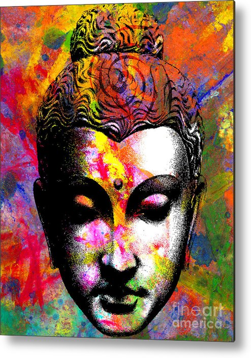 Ancient Metal Print featuring the digital art Mind by Ramneek Narang