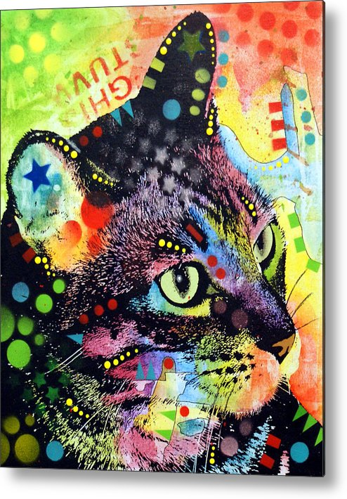 Kitten Metal Print featuring the painting Nappy Cat by Dean Russo