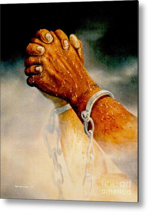 Blessing Metal Print featuring the painting Praying Hands by George Combs