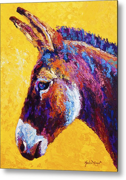 Burro Metal Print featuring the painting Red Jenny by Marion Rose