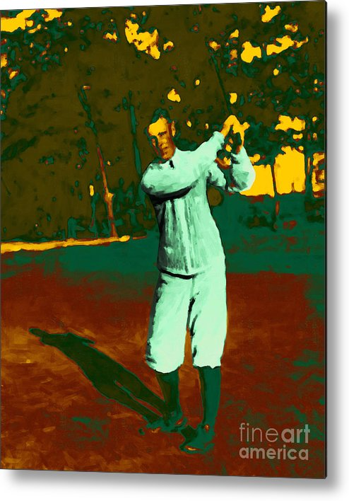 Sport Metal Print featuring the photograph The Golfer - 20130208 by Wingsdomain Art and Photography