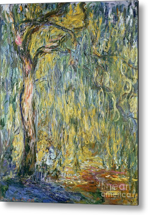 Claude Metal Print featuring the painting The Large Willow At Giverny by Claude Monet