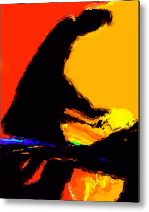Abstract Metal Print featuring the digital art The Pianist by Richard Rizzo