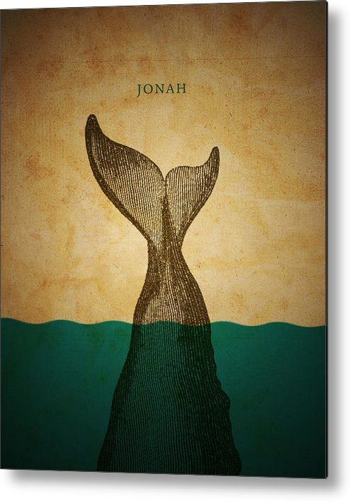 Bible Metal Print featuring the digital art Wordjonah by Jim LePage
