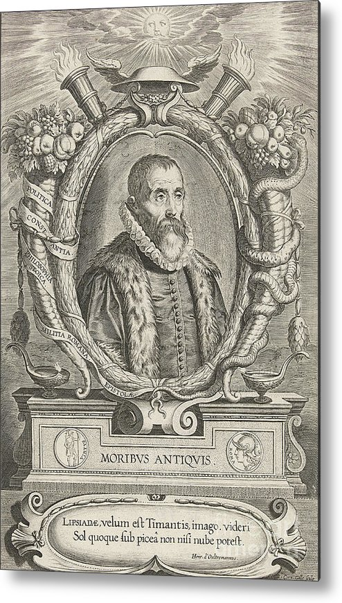 History Metal Print featuring the photograph Justus Lipsius, Belgian Scholar by Photo Researchers