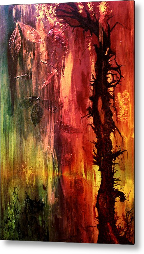 Abstract Metal Print featuring the digital art October Abstract by Patricia Motley