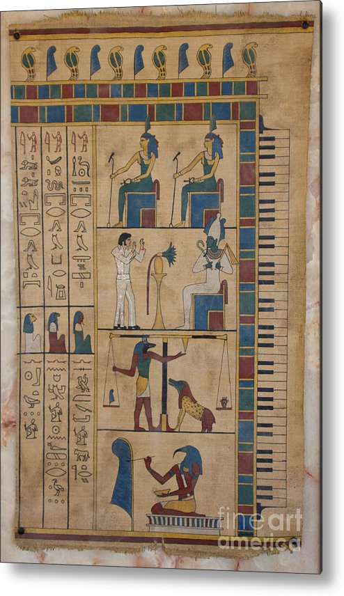Egypt Metal Print featuring the painting The Graceland Papyrus by Richard Deurer