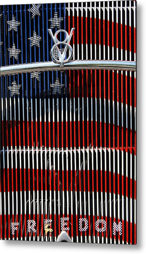 V8 Metal Print featuring the photograph V8 Freedom by Jani Freimann