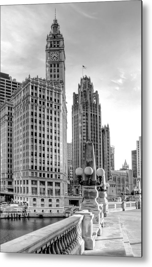 Architecture Metal Print featuring the photograph Wrigley And Tribune by Scott Norris