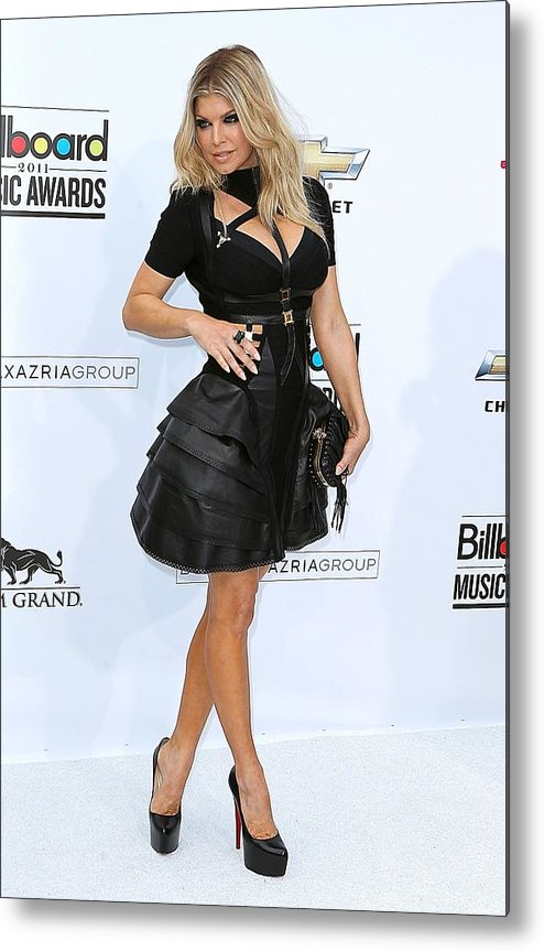 Fergie Metal Print featuring the photograph Fergie Wearing A Herve Leger By Max by Everett