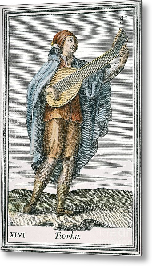 1723 Metal Print featuring the photograph Lute, 1723 by Granger